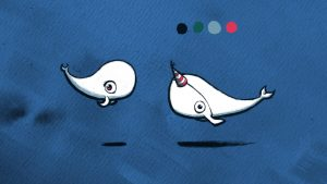 A Tusky Tale // Narwhal // Concept Art // Character Design