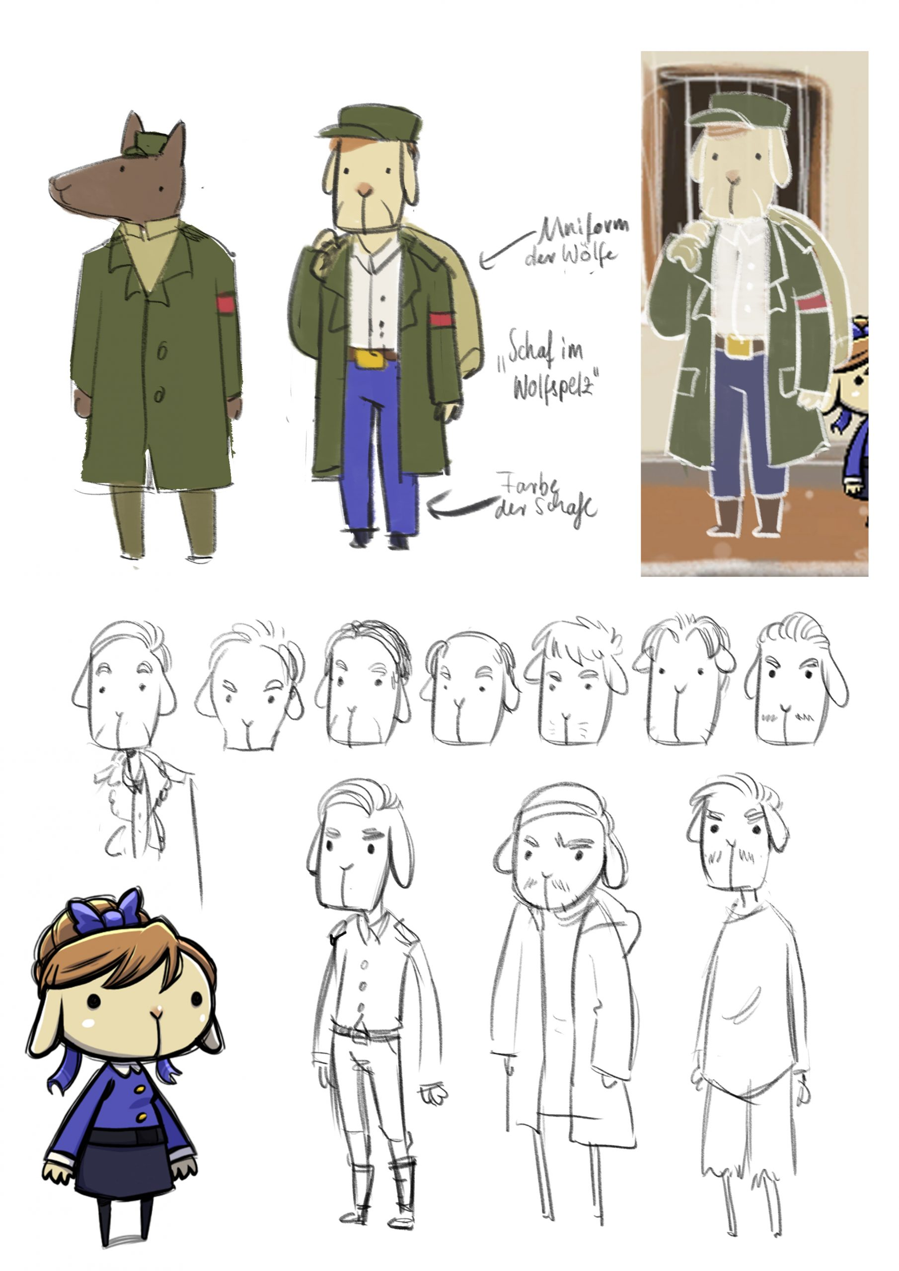 Forget you not - the world with dementia - character design